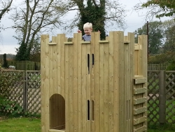 image for NEW PRODUCT - Children's Wooden Castle Playhouse