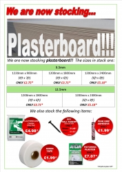 image for Plasterboard now in stock!