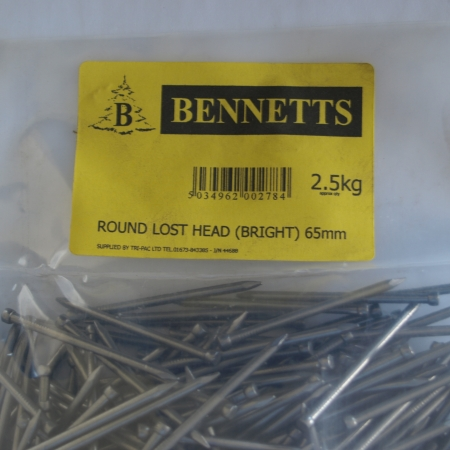 Image for Round Lost Head Nails - Bright