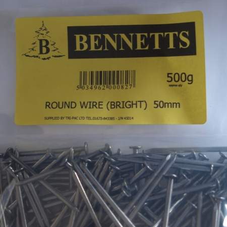 Image for Round Wire Nails - Bright