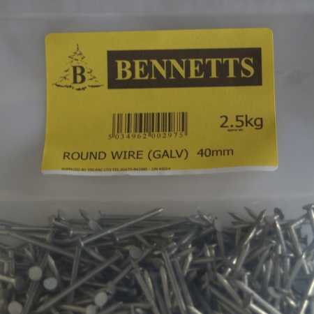 Image for Round Wire Galvanised Nails